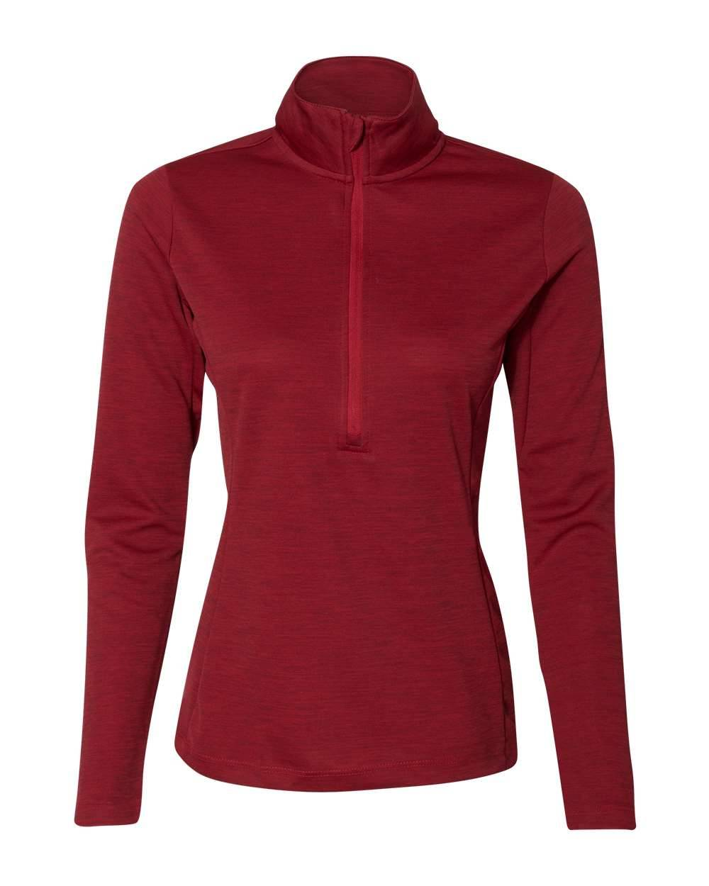 Russell Athletic - Women's Striated Quarter-Zip Pullover - QZ7EAX - True Red - 2X-Large