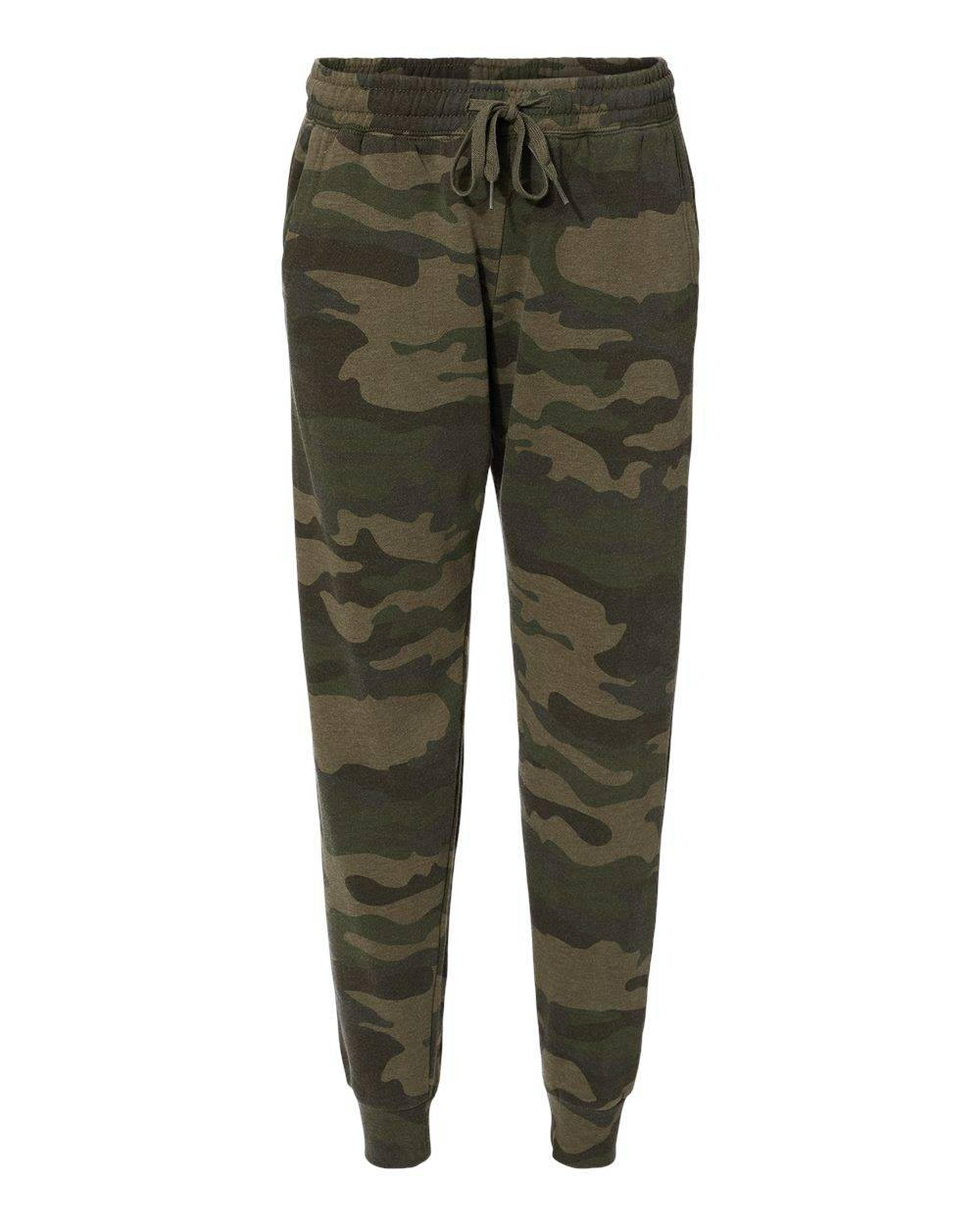 Independent Trading Co. - Women's California Wave Wash Sweatpants - PRM20PNT - Forest Camo Heather - Small