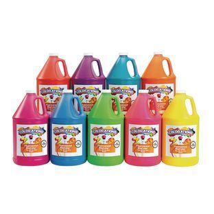 Discount School Supply BioColor Paint Fluorescent 1 Gallon   Set of 9 by Discount School Supply