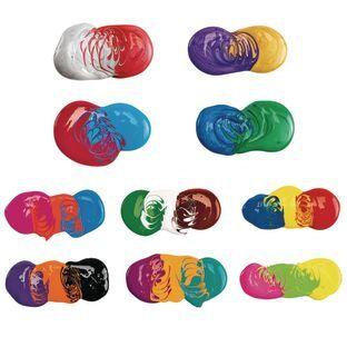 Discount School Supply BioColor Paint Original Fluorescent and Metallic Colors 16 oz   Set of All 26 by Discount School Supply