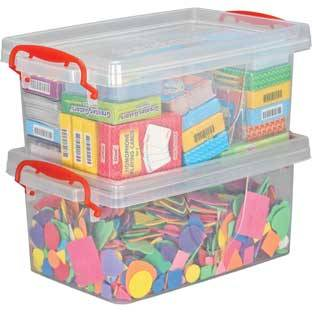 Really Good Stuff Inc Stackable Storage Tubs With Locking Lids Large   2 tubs 2 lids by Really Good Stuff Inc