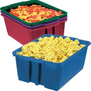 Really Good Stuff Inc Classroom Stacking Bins   Royal Colors   4 bins by Really Good Stuff Inc