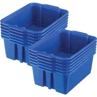 Really Good Stuff Inc Classroom Stacking Bins   12 bins Blue by Really Good Stuff Inc