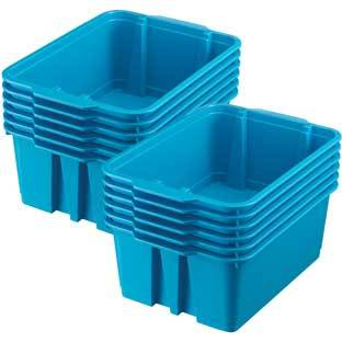 Really Good Stuff Inc Classroom Stacking Bins   12 bins Blue Neon by Really Good Stuff Inc