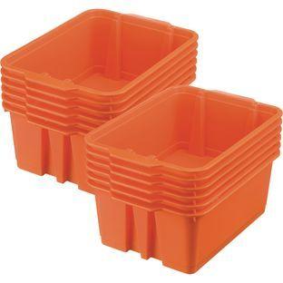 Really Good Stuff Inc Classroom Stacking Bins   12 bins Orange by Really Good Stuff Inc