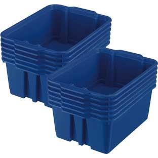Really Good Stuff Inc Classroom Stacking Bins   12 bins Royal Blue by Really Good Stuff Inc
