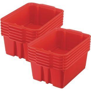 Really Good Stuff Inc Classroom Stacking Bins   12 bins Red by Really Good Stuff Inc