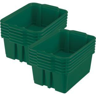 Really Good Stuff Inc Classroom Stacking Bins   12 bins Royal Green by Really Good Stuff Inc