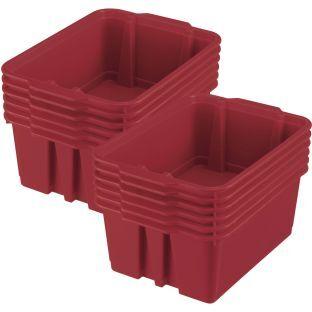 Really Good Stuff Inc Classroom Stacking Bins   12 bins Royal Red by Really Good Stuff Inc