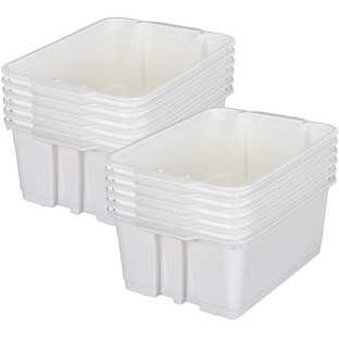 Really Good Stuff Inc Classroom Stacking Bins   12 bins White by Really Good Stuff Inc