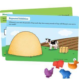 Really Good Stuff Inc Farm Animal Counters and Task Cards Kit   72 counters 22 cards by Really Good Stuff Inc