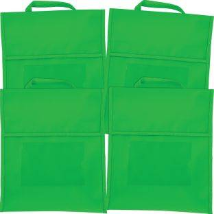 Really Good Stuff Inc Solid Color Book Pouches   Set Of 4 Green by Really Good Stuff Inc