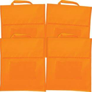 Really Good Stuff Inc Solid Color Book Pouches   Set Of 4 Orange by Really Good Stuff Inc