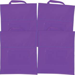 Really Good Stuff Inc Solid Color Book Pouches   Set Of 4 Purple by Really Good Stuff Inc