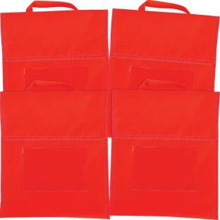 Really Good Stuff Inc Solid Color Book Pouches   Set Of 4 Red by Really Good Stuff Inc