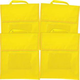 Really Good Stuff Inc Solid Color Book Pouches   Set Of 4 Yellow by Really Good Stuff Inc