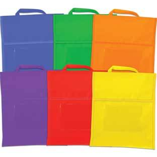 Really Good Stuff Inc Group Color Book Pouches   6 Colors by Really Good Stuff Inc