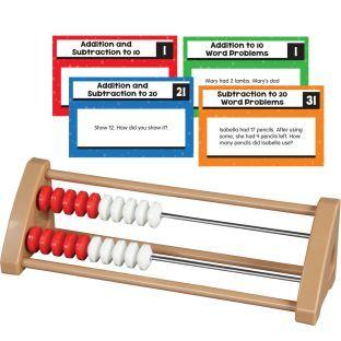 Really Good Stuff Inc 20 Bead Student Rekenreks With Task Cards   1 multi item kit by Really Good Stuff Inc