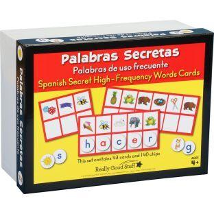 Really Good Stuff Inc Palabras Secretas Palabras de uso frecuente Spanish Secret High Frequency Words Cards   1 game by Really Good Stuff Inc