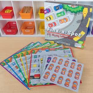 Really Good Stuff Inc Find A Spot CVC Missing Letters Game   1 game by Really Good Stuff Inc