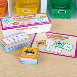 Really Good Stuff Inc Tap and Blend Long Vowel Cards   168 cards by Really Good Stuff Inc