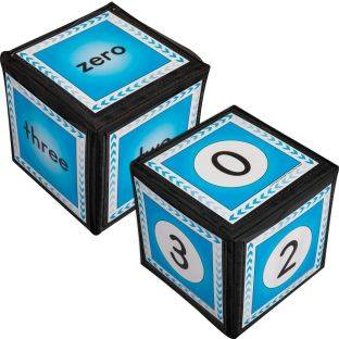 Really Good Stuff Inc Numbers 0 12 Cards And 6  Cubes   2 cubes 26 cards by Really Good Stuff Inc