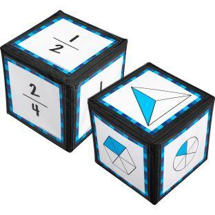 Really Good Stuff Inc Intermediate Fractions Cards And 6  Cubes   2 cubes 42 cards by Really Good Stuff Inc