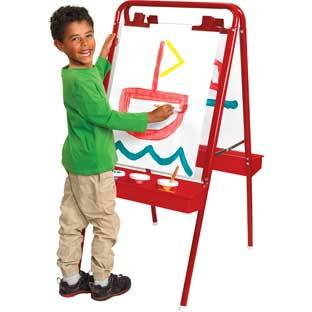 Discount School Supply Colorations 2 Way Indoor Outdoor Acrylic Panel Easel by Discount School Supply