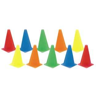 Discount School Supply Colored Cones   Set of 10 by Discount School Supply