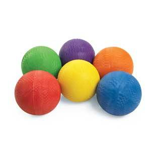 Discount School Supply Excellerations Premium Rubber Playground Balls   Set of 6 by Discount School Supply