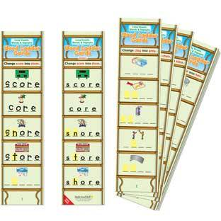 Really Good Stuff Inc Long Vowels Blends and Digraphs Word Ladder Cards   28 cards by Really Good Stuff Inc