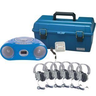 VCOM MULTIMEDIA 6 Person Val U Pak Bluetooth Boombox Listening Center   1 listening center by VCOM MULTIMEDIA