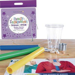 Really Good Stuff Inc Family Engagement Science STEM   Wonder Discover and Explore Pack The Sounds Of Science by Really Good Stuff Inc