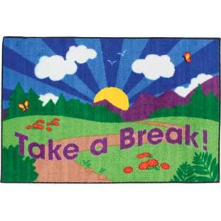 Really Good Stuff Inc Take A Break Rug   1 rug by Really Good Stuff Inc