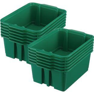 Really Good Stuff Inc Classroom Stacking Bins   12 bins Green by Really Good Stuff Inc