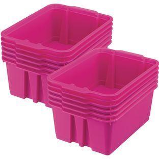 Really Good Stuff Inc Classroom Stacking Bins   12 bins Pink Neon by Really Good Stuff Inc