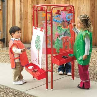 Discount School Supply Colorations 3 Way Indoor Outdoor Acrylic Panel Easel by Discount School Supply