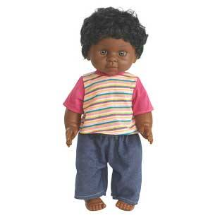 Discount School Supply 16  Multicultural Toddler Doll   African American Boy   1 doll by Discount School Supply