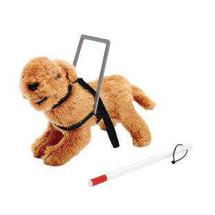 Discount School Supply Seeing Eye Dog and Cane for Toddler Dolls   1 doll by Discount School Supply