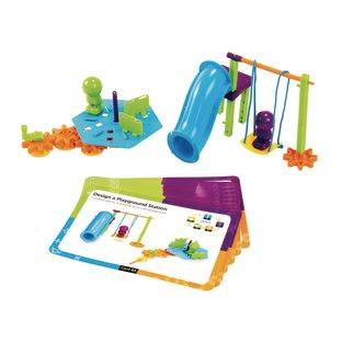 Learning Resources STEM Engineering And Design Kit   94 pieces 10 cards by Learning Resources