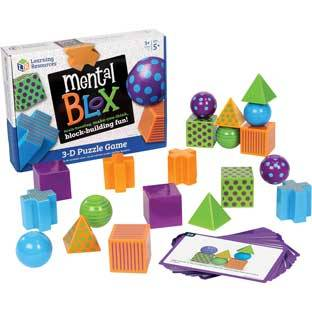 Learning Resources Mental Blox   20 blocks 20 activity cards by Learning Resources