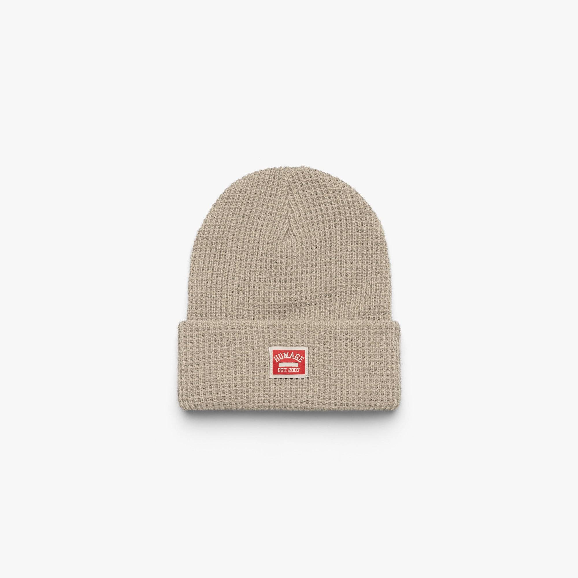 HOMAGE Go-To Beanie in  White/Black (Size: One Size)