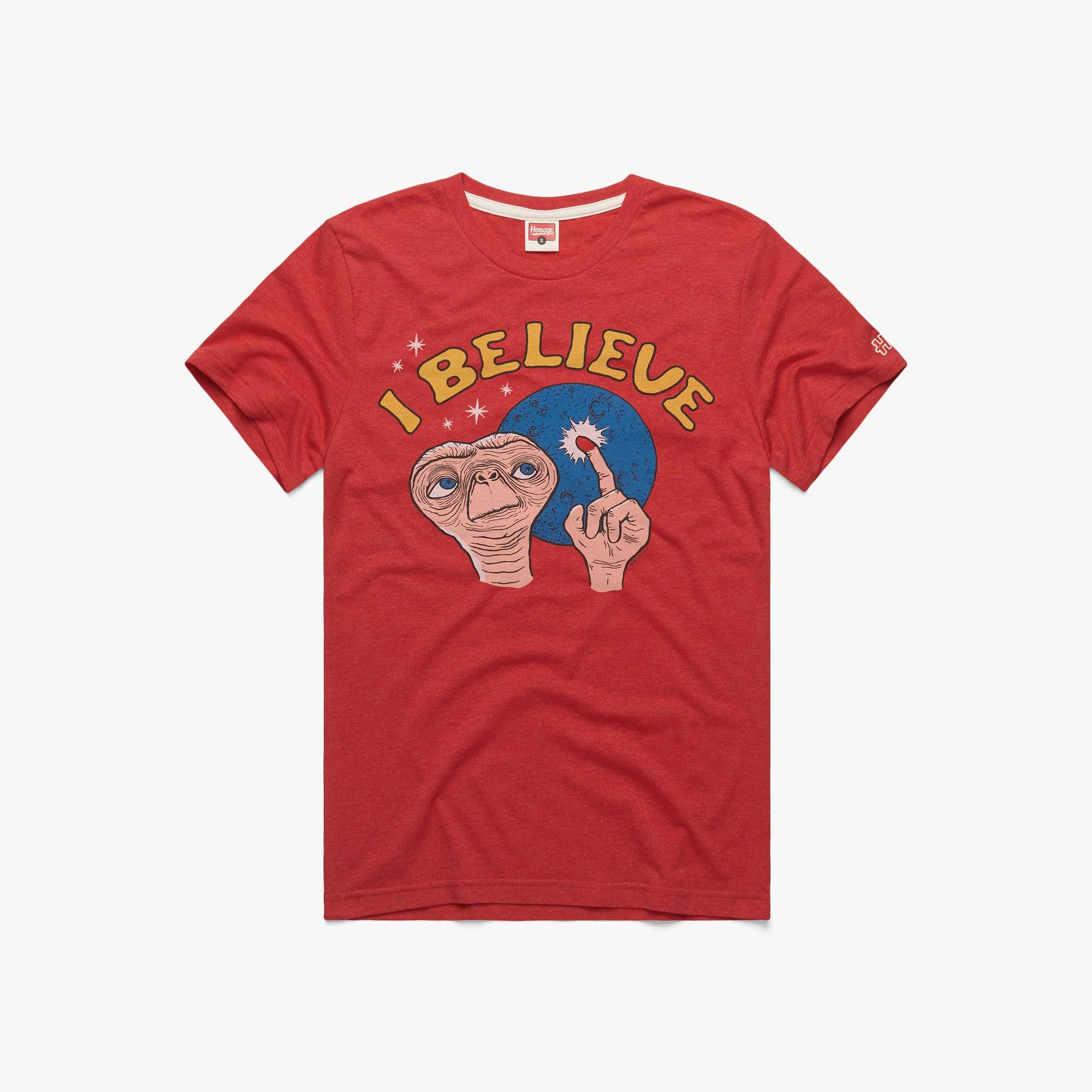 HOMAGE E.T. I Believe in  Red (Size: L)