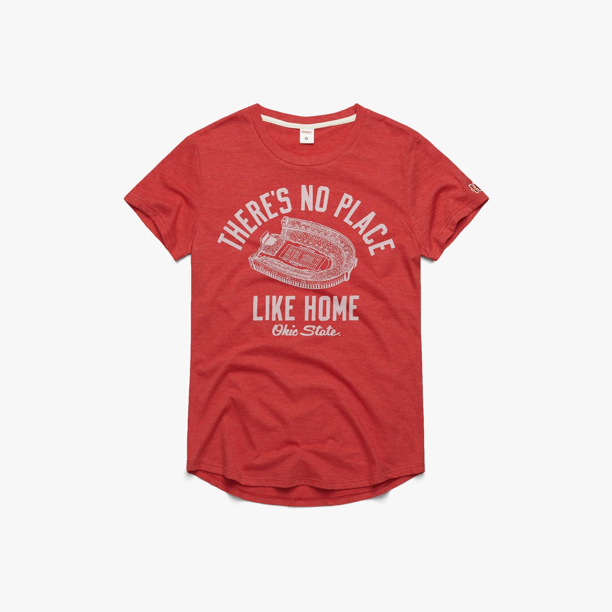 HOMAGE Women's There's No Place Like Home Ohio State in  Red (Size: S)