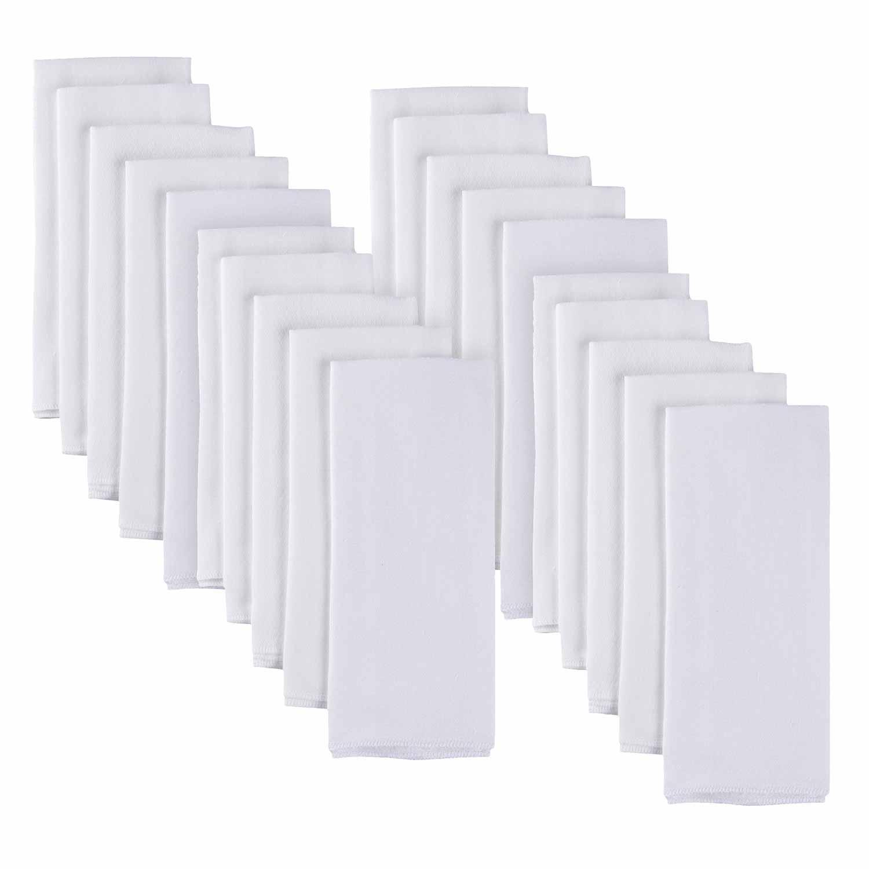 Gerber 20-pack White Flatfold Birdseye Cloth Diapers