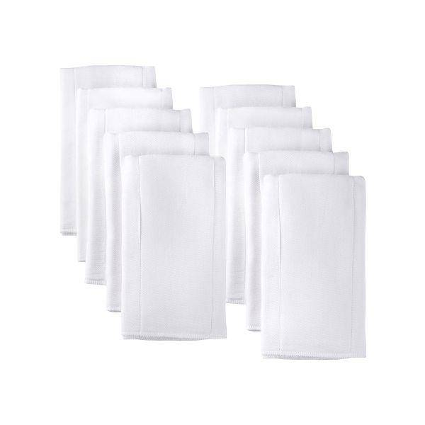 Gerber 10pk White Gauze Prefold Cloth Diapers - 5-ply Center Panel - ONE SIZE