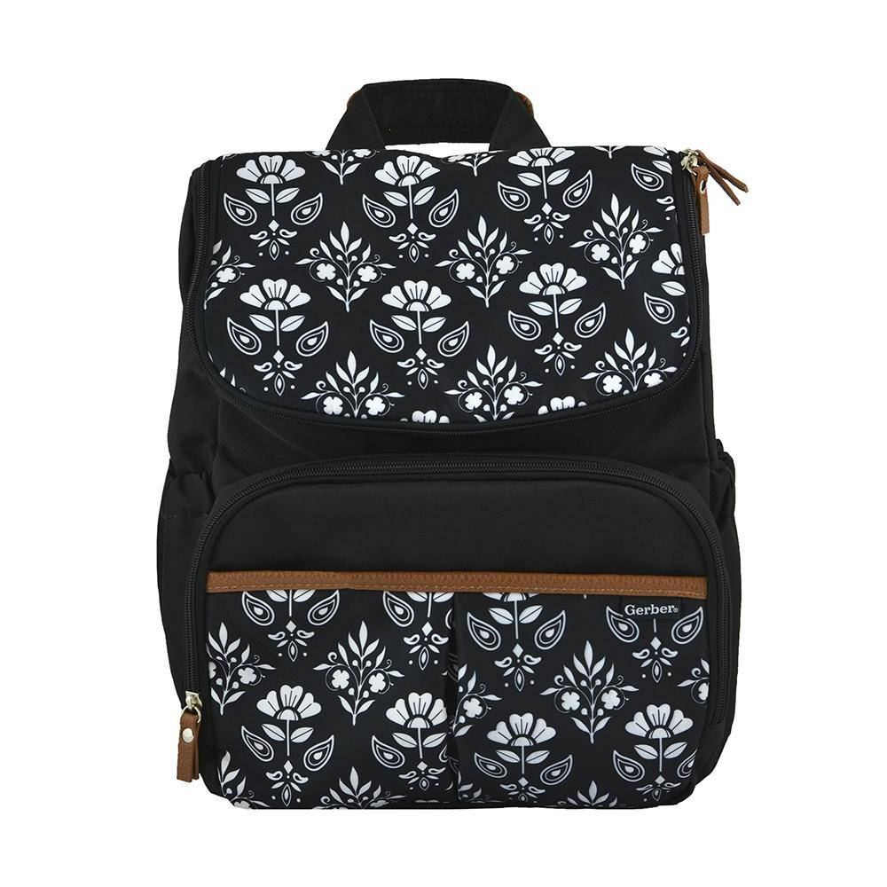Gerber Diaper Bag Backpack in Floral Geo Print