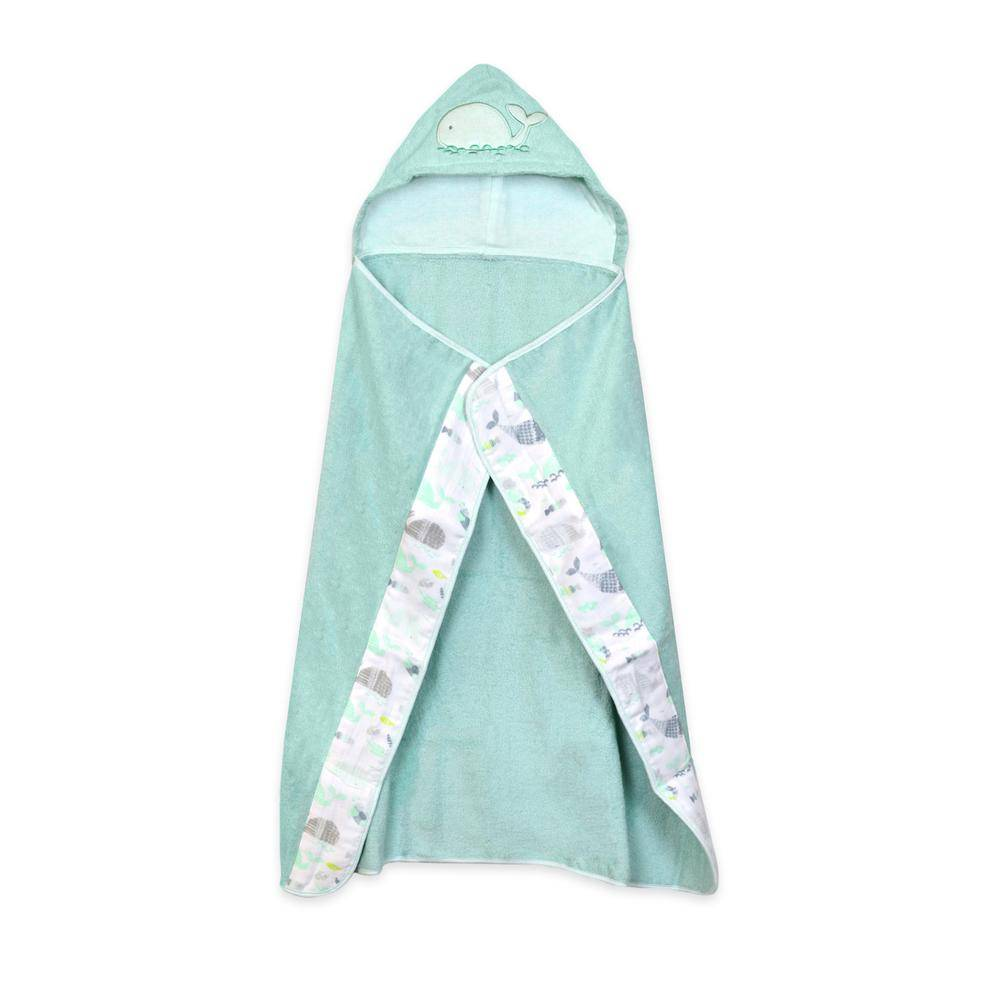 Just Born Under the Sea Hooded Towel Wrap in Mint
