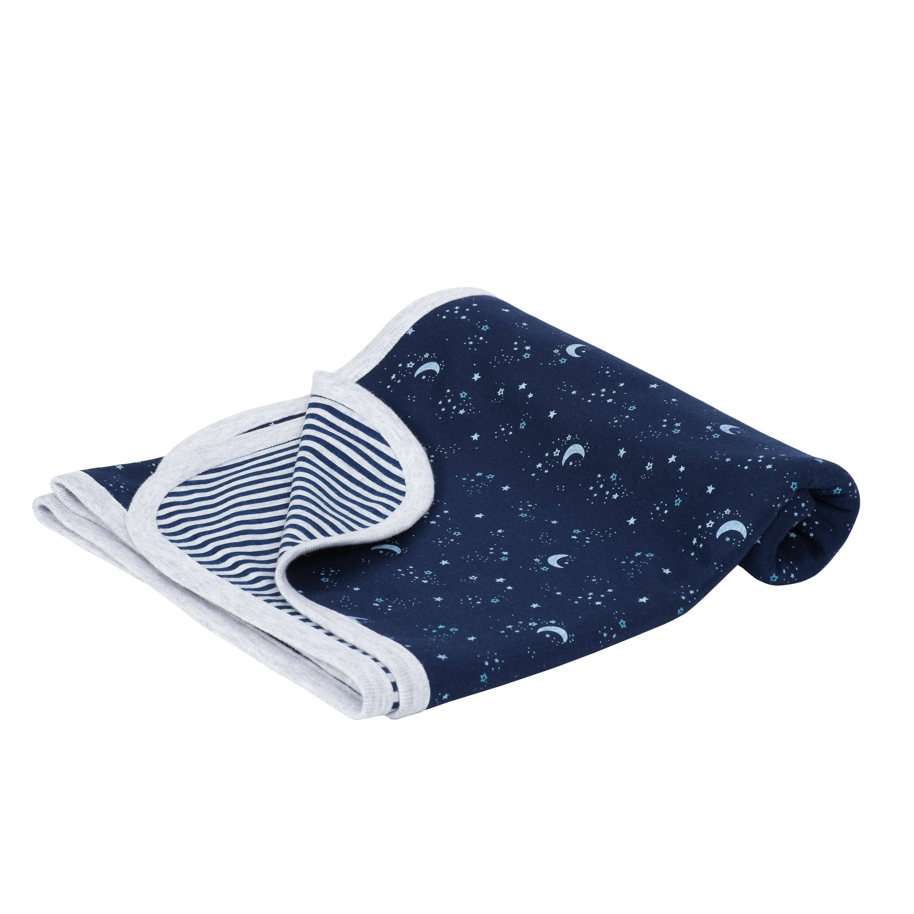 Just Born Baby Boy Just Born Organic Outer Space Swaddle Blanket - ONE SIZE