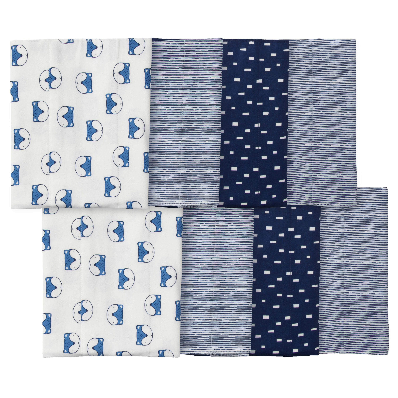 Gerber 8-pack Baby Boys' Fox Burpcloths - ONE SIZE